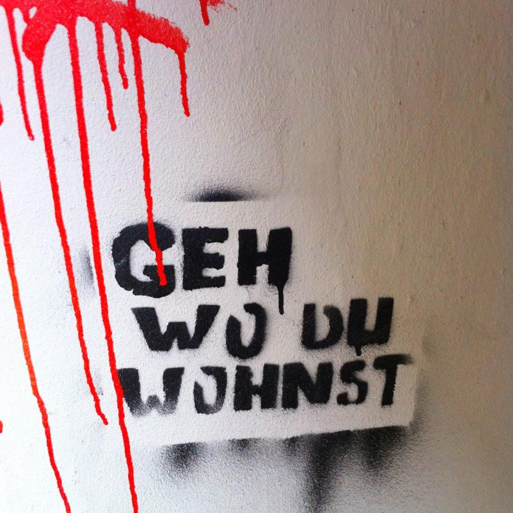 Geh wo du wohnst streetart Hamburg