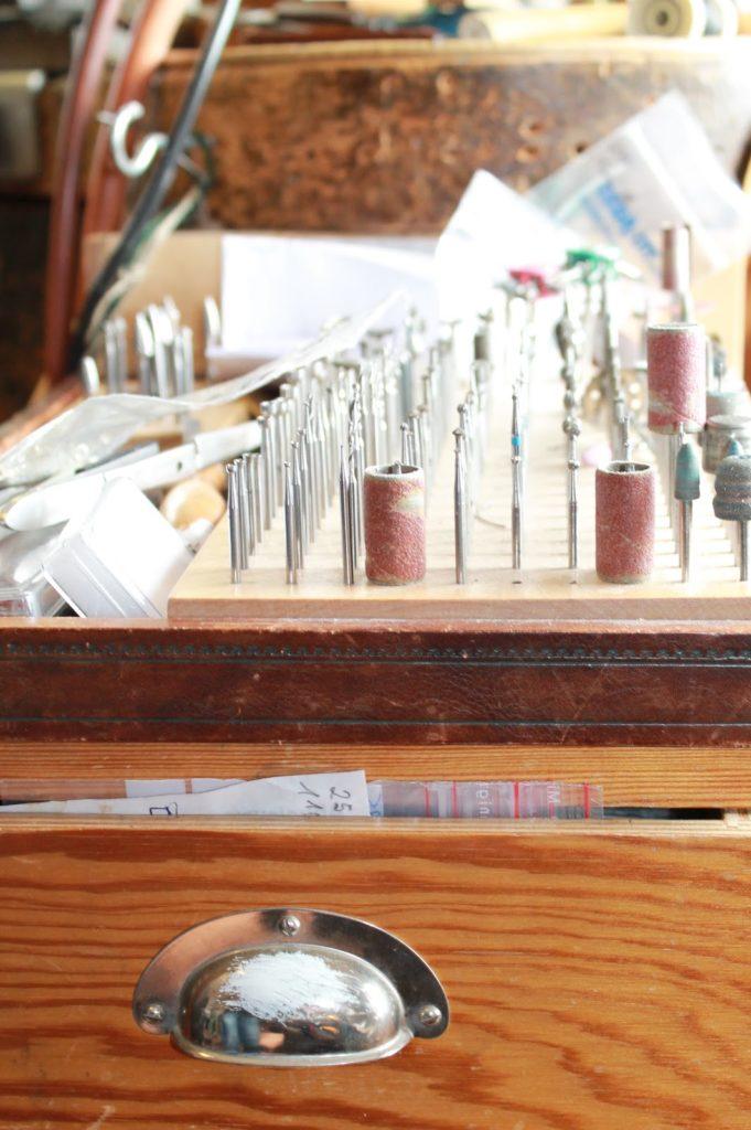 Bohraufsaetze in Werkstatt