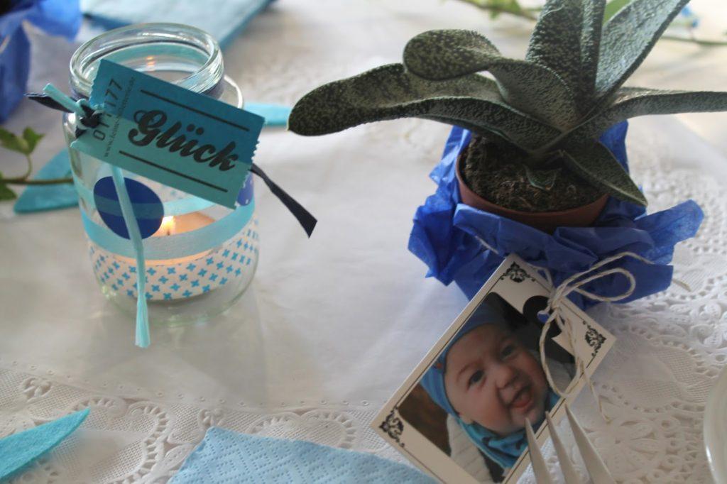 Tischdekoration Gastgeschenk Giveaway Taufe