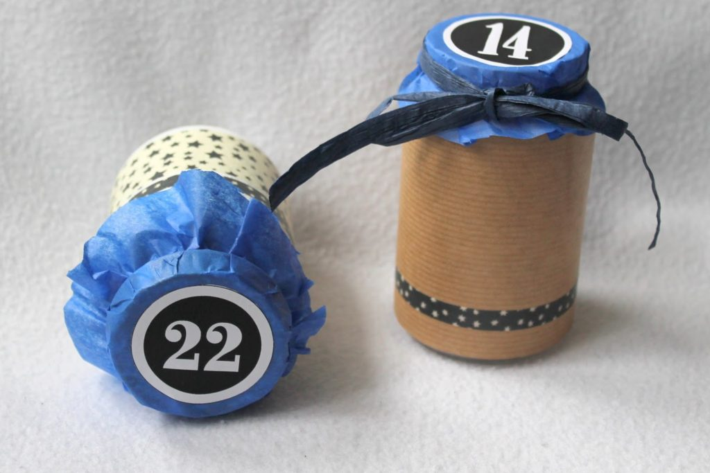 Upcycling Adventskalender Altglas