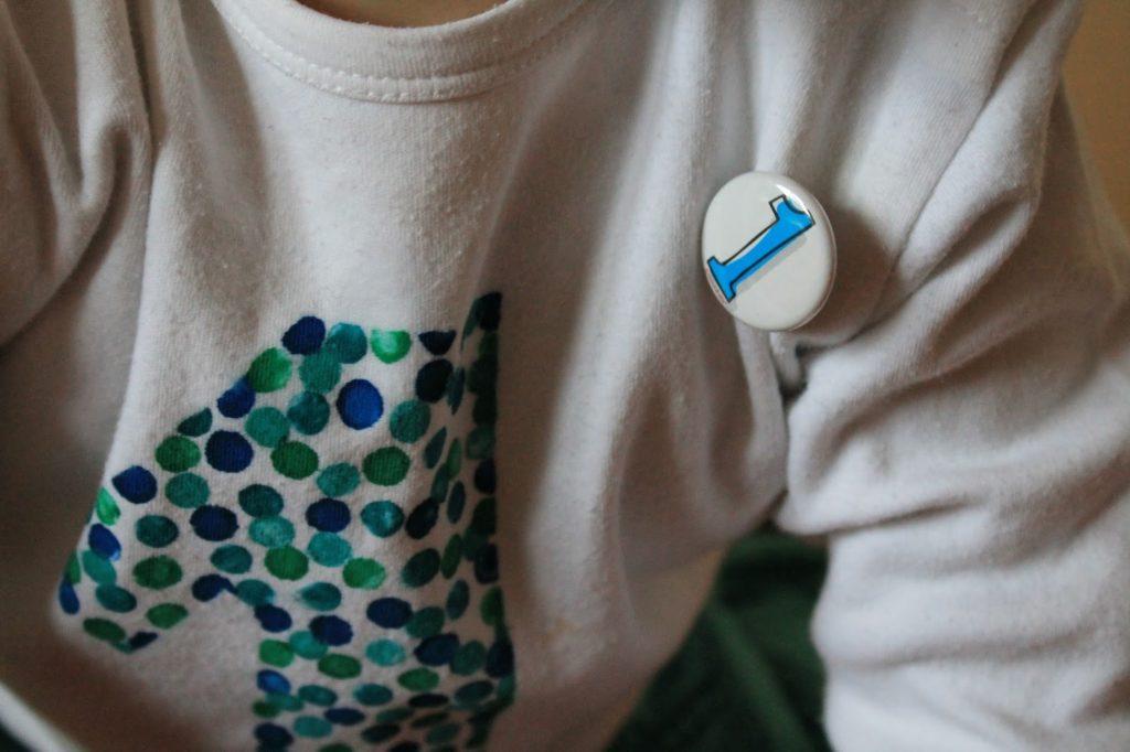 Geburtstagsshirt und Alters-Button