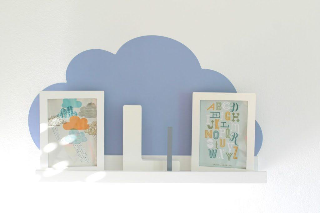 Limmaland Ribba Wolke Kinderzimmer blau