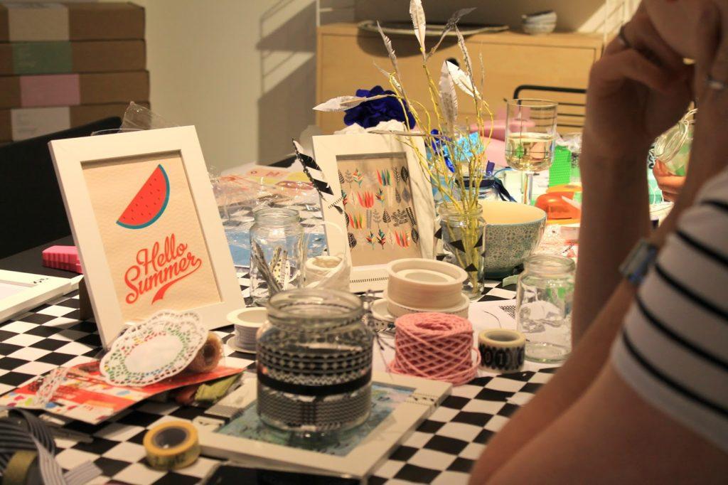 DIY Workshop Sommerdeko mit Masking Tape