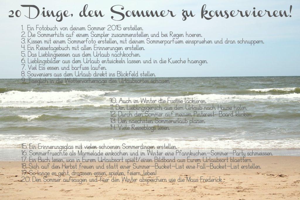 Freebie Sommer-Konservierungs-Liste