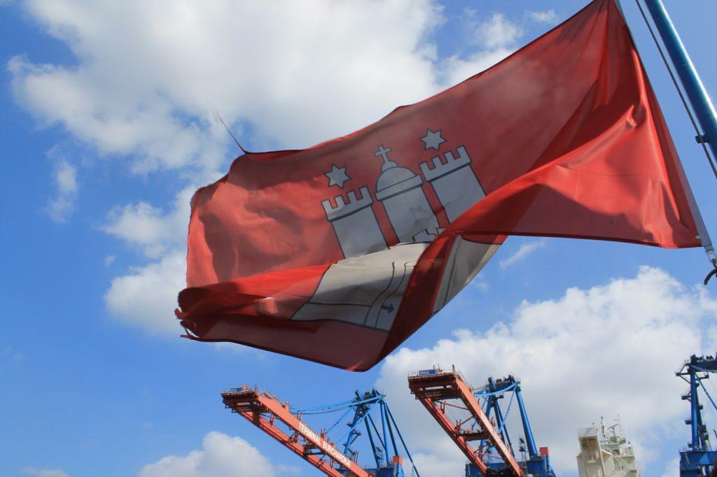 Hamburg Stadtwappen Fahne