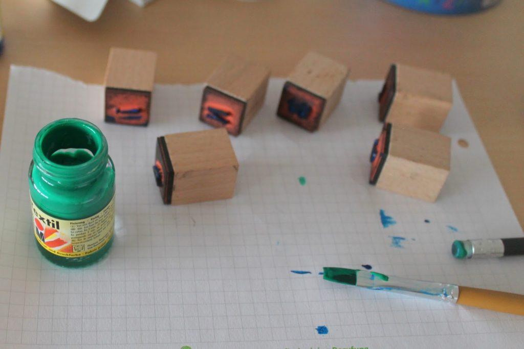 DIY Stempelfarbe Textil