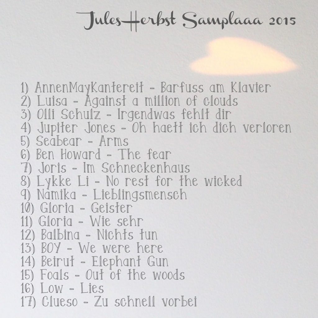 Jules Herbst Samplaaa 2015