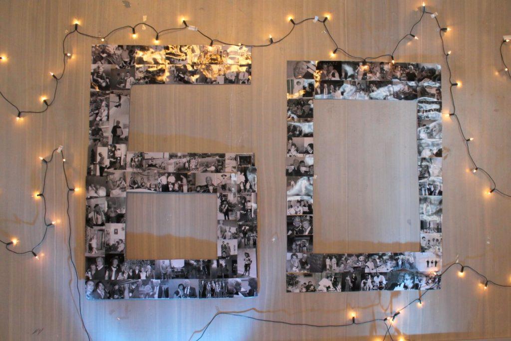 Geburtstagszahl 60 aus Fotos Geburtstag Bilder Erinnerungen