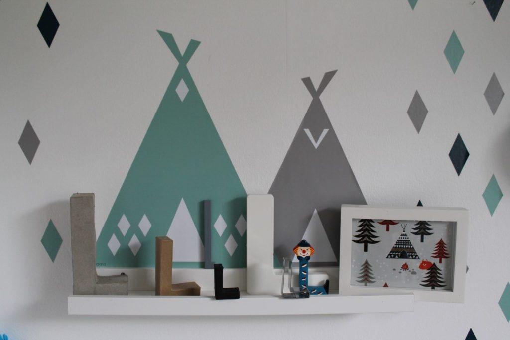 Tipis Wanddeko Kinderzimmer