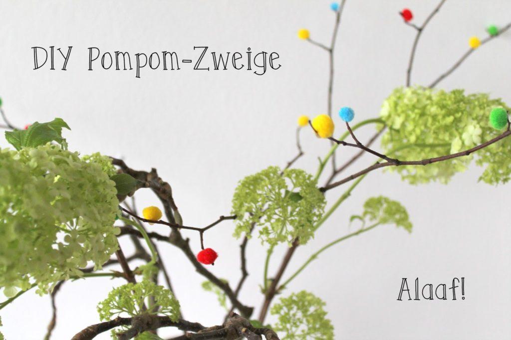 DIY Pompom Zweige