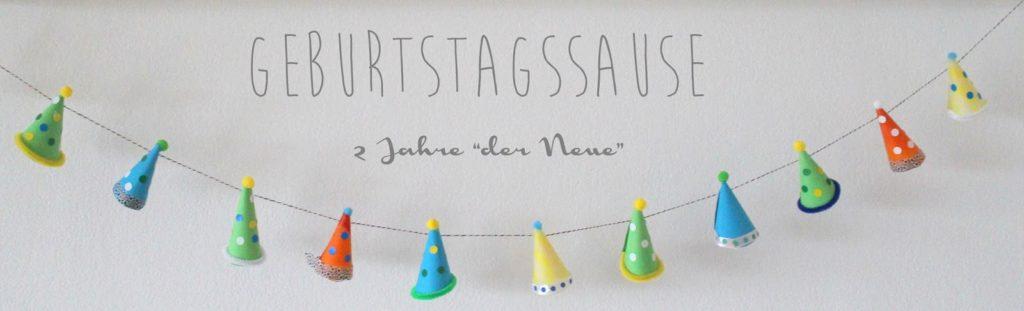 Geburtstagssause 2 Jahre der Neue Partyhuete Wimpelkette