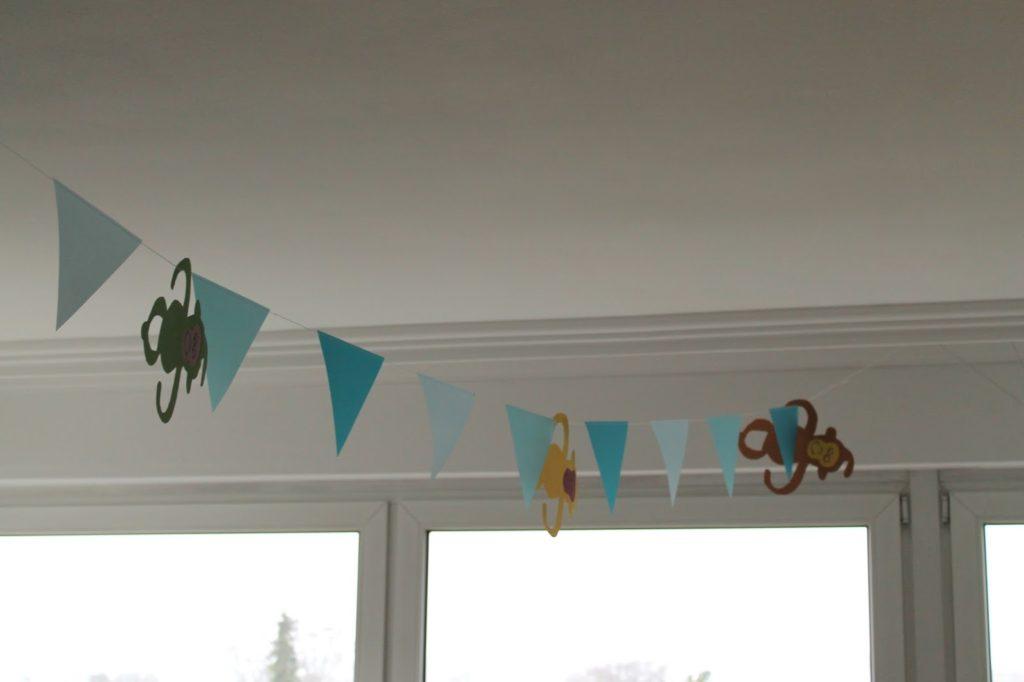 Dekoration Zirkus Geburtstag Kindergeburtstag Motto Wimpelkette