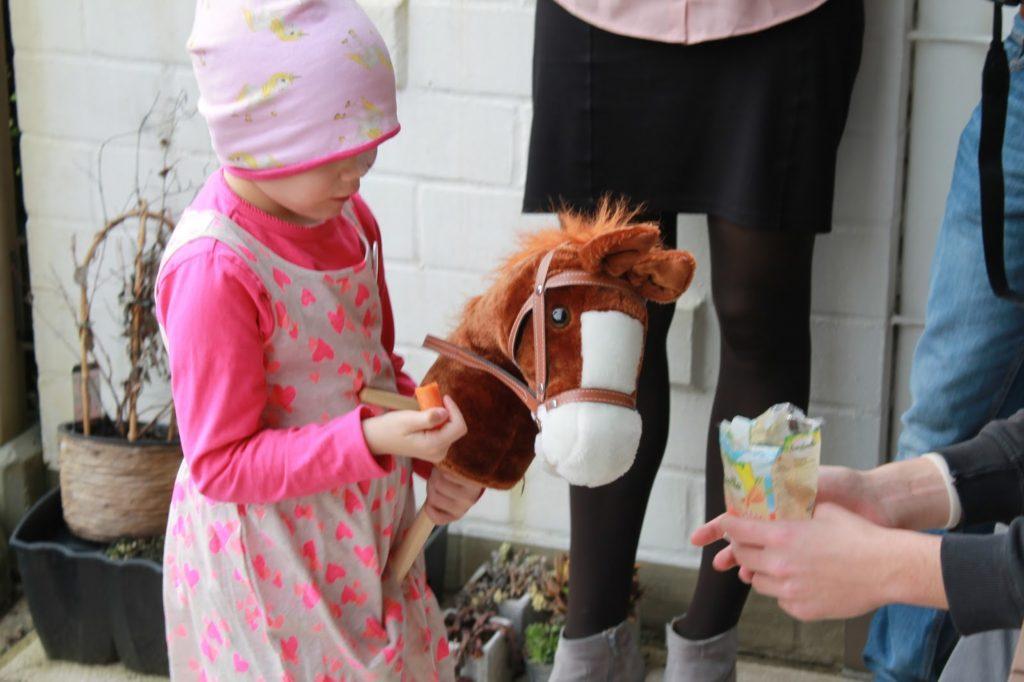 Pferdeparty Anti-Krebs Chemo vorbei Party Jules kleines Freudenhaus