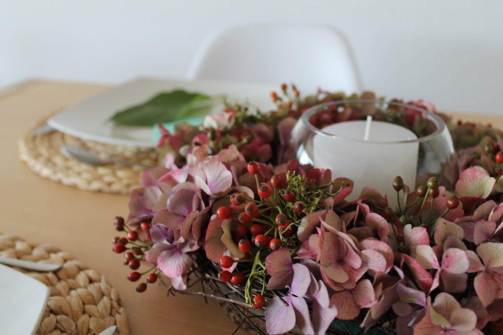 Hortensien Tischdeko Jules kleines Freudenhaus