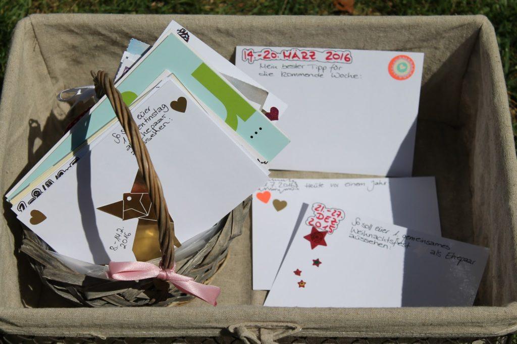 DIY Hochzeitsgeschenk Gaestebuch Postkarten