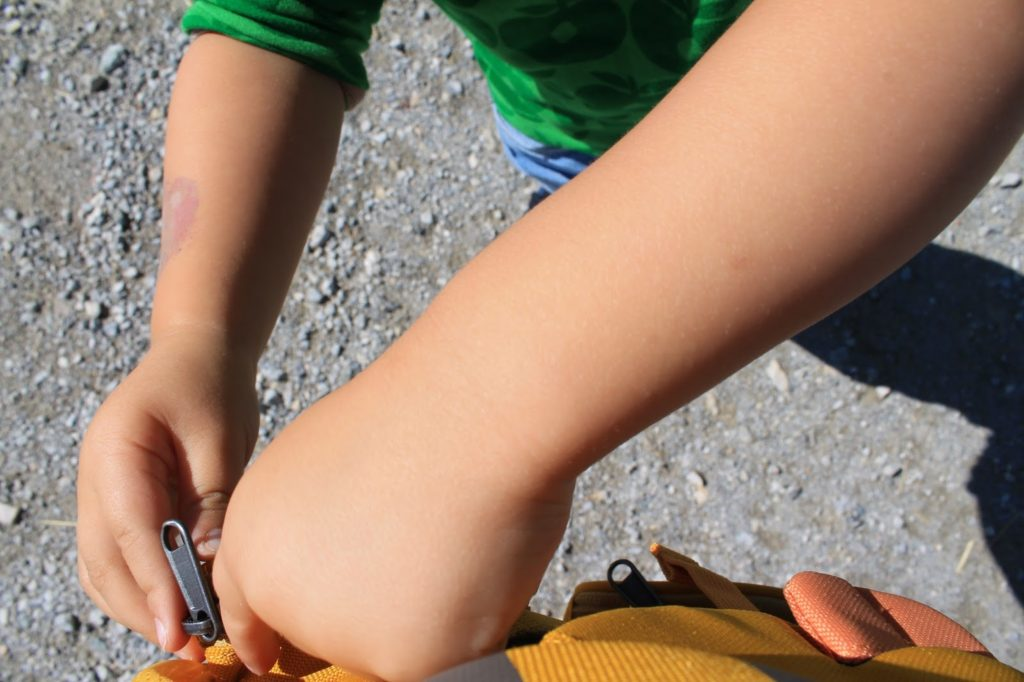 Theo Tiger Affenzahn Rucksack Wandern mit Kindern Berge Alpen Schladming Kinder