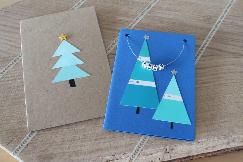 Weihnachtskarte Farbstreifen Baumarkt Tannenbaum Merry and be vorglitzern mit Jules kleines Freudenhaus und Frau Heuberg