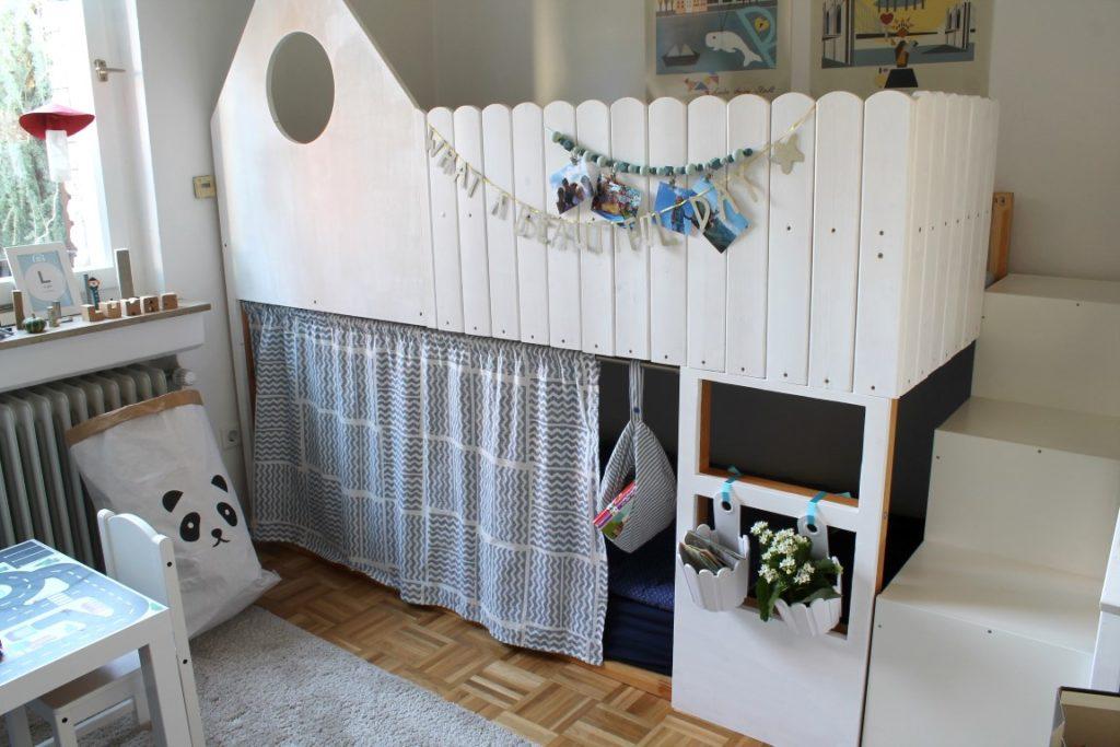 IKEA Kura Bett Hack Kinderzimmer Makeover Nursery Bedtime Stories Jules kleines Freudenhaus