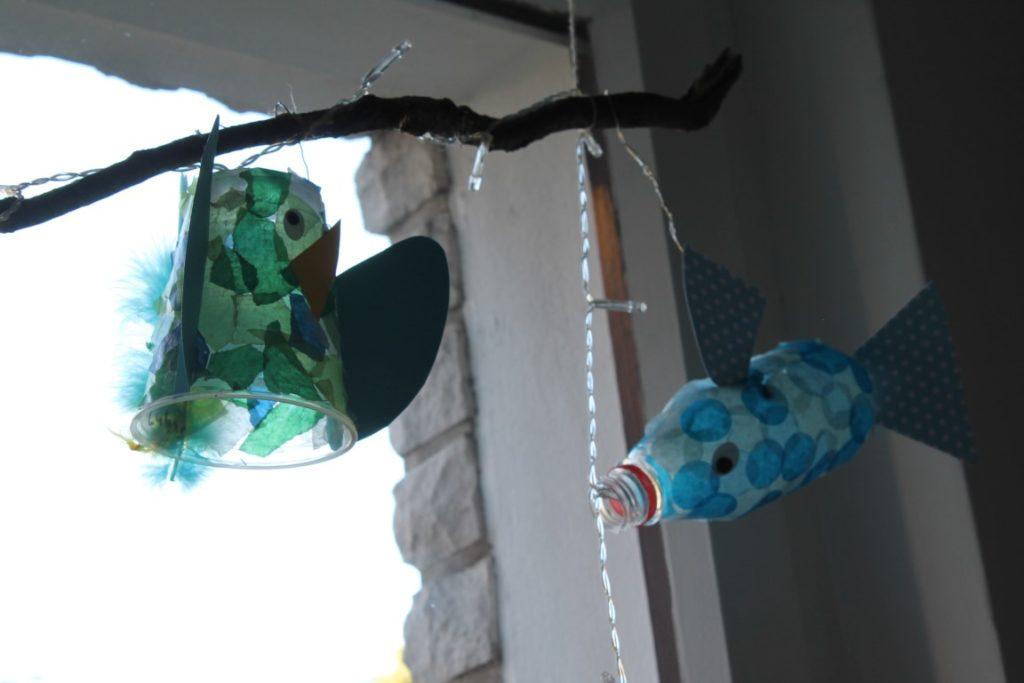 IKEA Kura Bett Hack Kinderzimmer Deko Laterne Vogel Fisch Jules kleines Freudenhaus