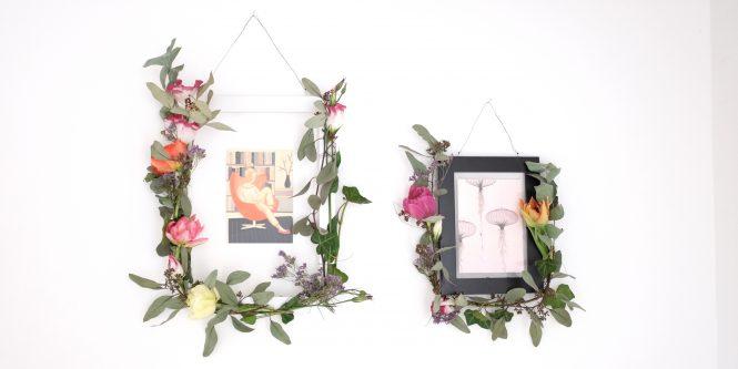 DIY Workshop Flower Power Bloggers florale Bilderrahmen