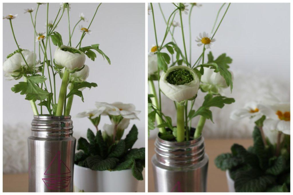 Trinkflasche Affenzahn Edelstahl plastikfrei Jules kleines Freudenhaus Vase Blume