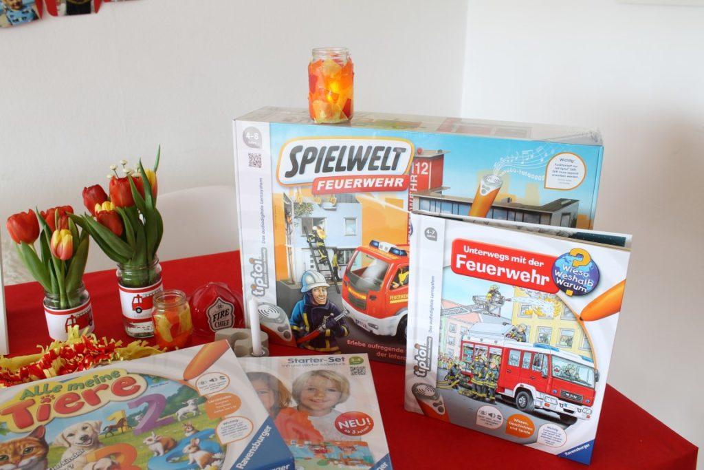 Feuerwehr Geburtstag Kindergeburtstag Feuerwehrmann Sam Jules kleines Freudenhaus Geschenkideen tiptoi Buch Feuerwehr