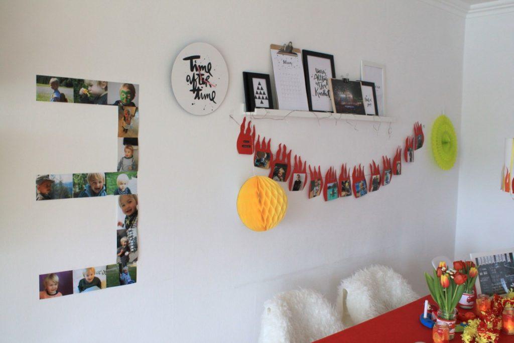 Feuerwehr Geburtstag Kindergeburtstag Feuerwehrmann Sam Jules kleines Freudenhaus Wanddeko