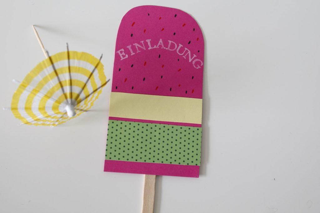 DIY Einladung Eiscreme Party Sommerparty Kinder Jules kleines Freudenhaus