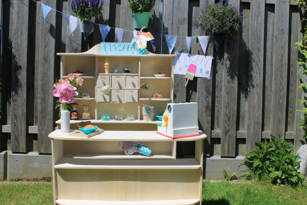 DIY Eiscafe Eiscreme Party Sommerparty Kinder Jules kleines Freudenhaus