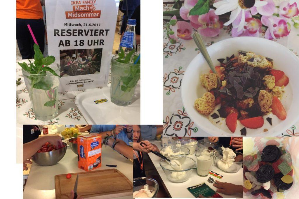 IKEA Family Midsommar Uebernachten im IKEA Einrichtungshaus Koeln Abendessen
