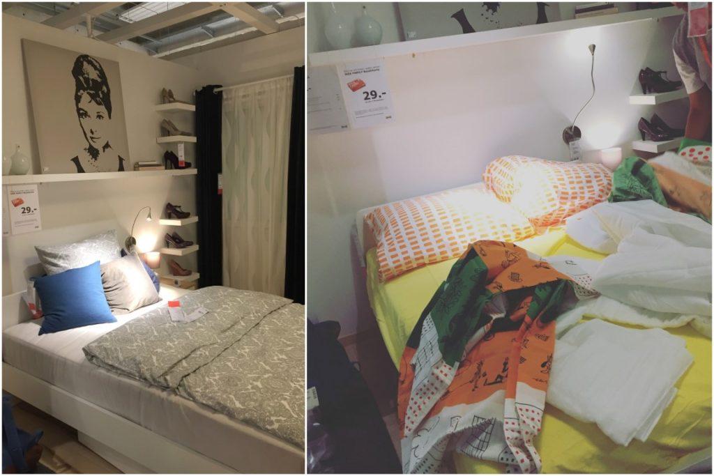 IKEA Family Midsommar Uebernachten im IKEA Einrichtungshaus Koeln Betten beziehen