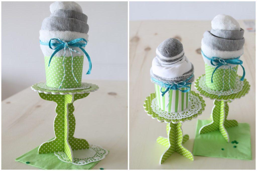 DIY Babymuffin Geschenk zur Geburt statt Windeltorte Anleitung Schritt fuer Schritt 5