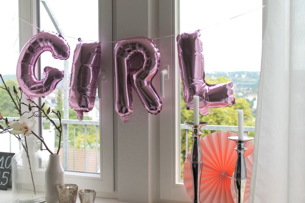 Decoration Babyshower Party Girl Balloons