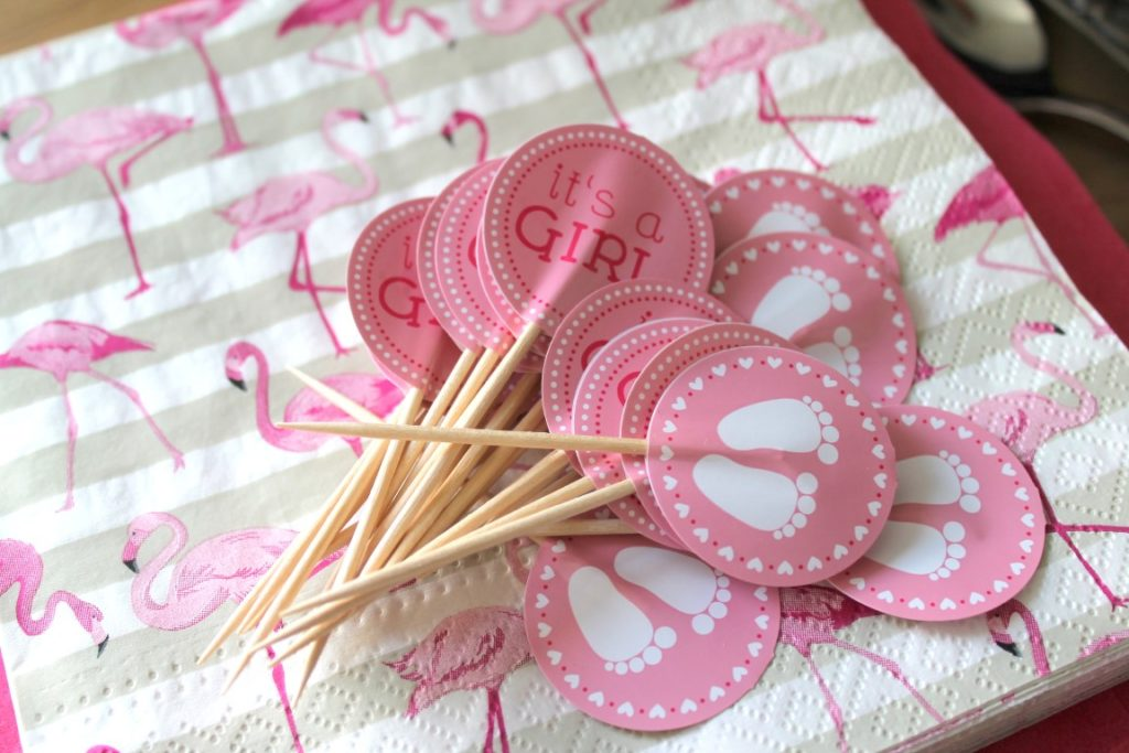 Ideen Babyshower Party Girl rose ideas creative Babyparty Buffet creative Food ideas