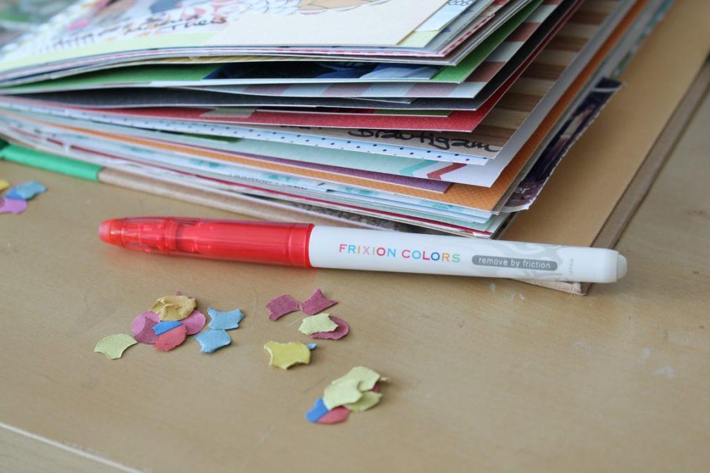 Erinnerungsbuch Momente To Dos festhalten mit PILOT FriXion Stiften Jules kleines Freudenhaus