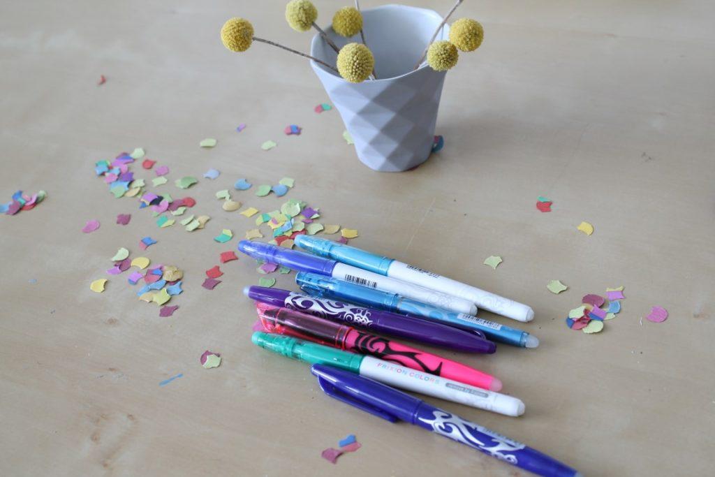 Gewinnspiel Erfahrungen Asuprobieren und Wegradieren mit PILOT FriXion Stiften Jules kleines Freudenhaus