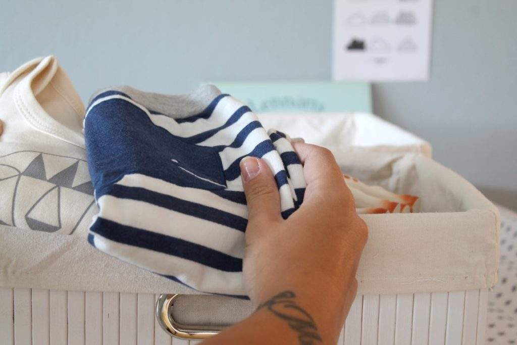Ordnung Trick Babykleidung Wickelkommode Koerbe vivanno Jules kleines Freudenhaus