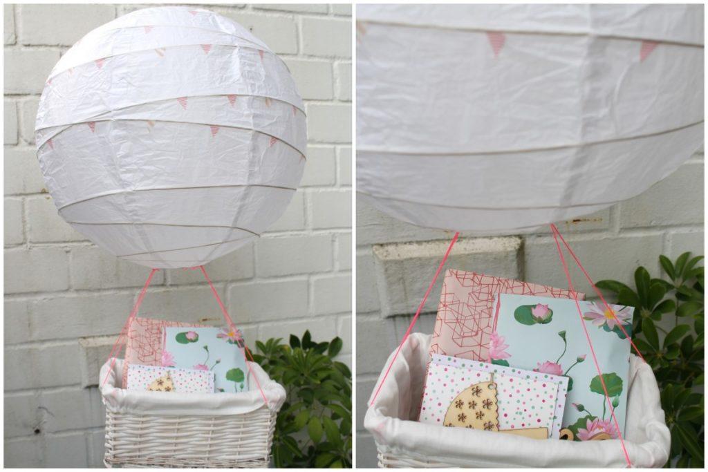 DIY Heissluftballon Geschenk zur Geburt Baby Jules kleines Freudenhaus