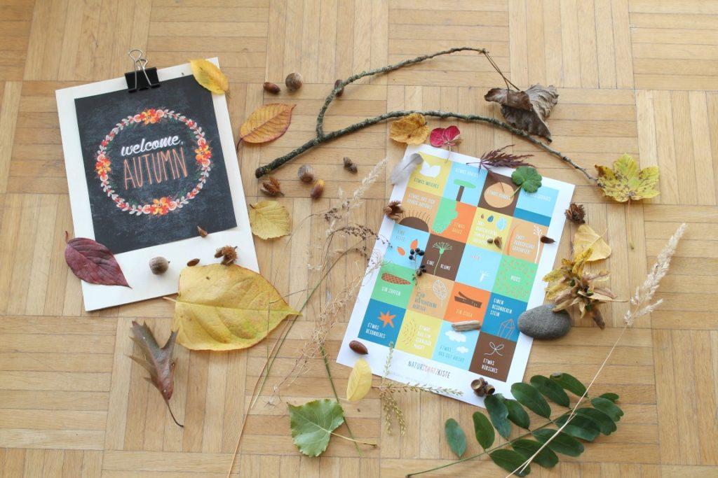 Herbstfunde Herbst Wald entdecken mit Kindern Suchspiel Jules kleines Freudenhaus