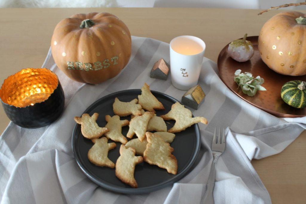 DIY goldene Halloween Dekoration Halloween Cookies Jules kleines Freudenhaus