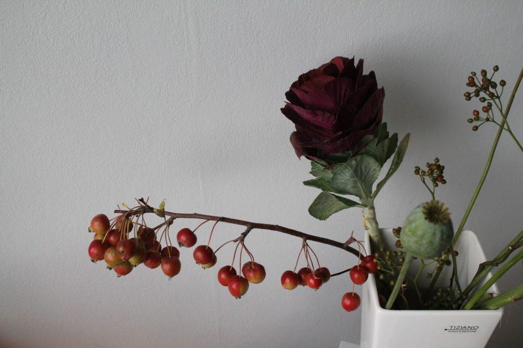 Herbstdeko Marsala Brombeeren Kohl Herbst Dekoration Jules kleines Freudenhaus