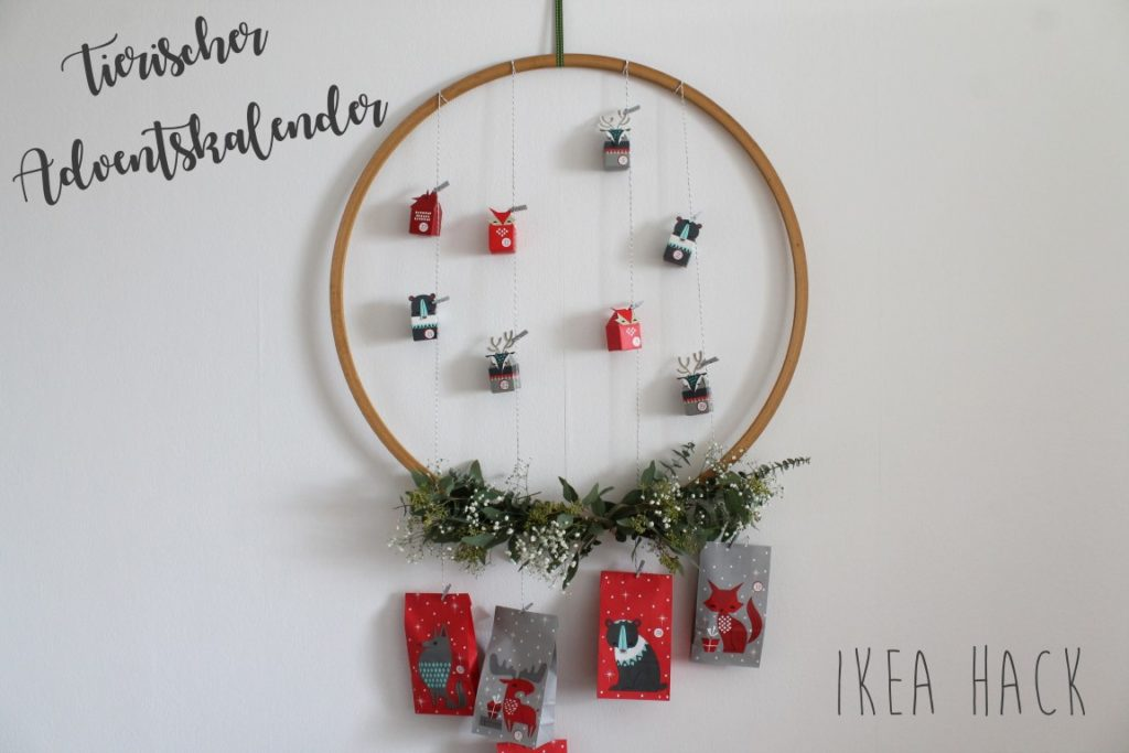 DIY tierischer Adventskalender mit IKEA Vinter 2017 Jules kleines Freudenhaus
