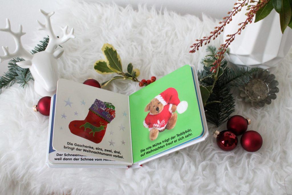 Geschenkideen zu Weihnachten fuer Babys Kleinkinder Fuehlbuch Weihnachten Jules kleines Freudenhaus