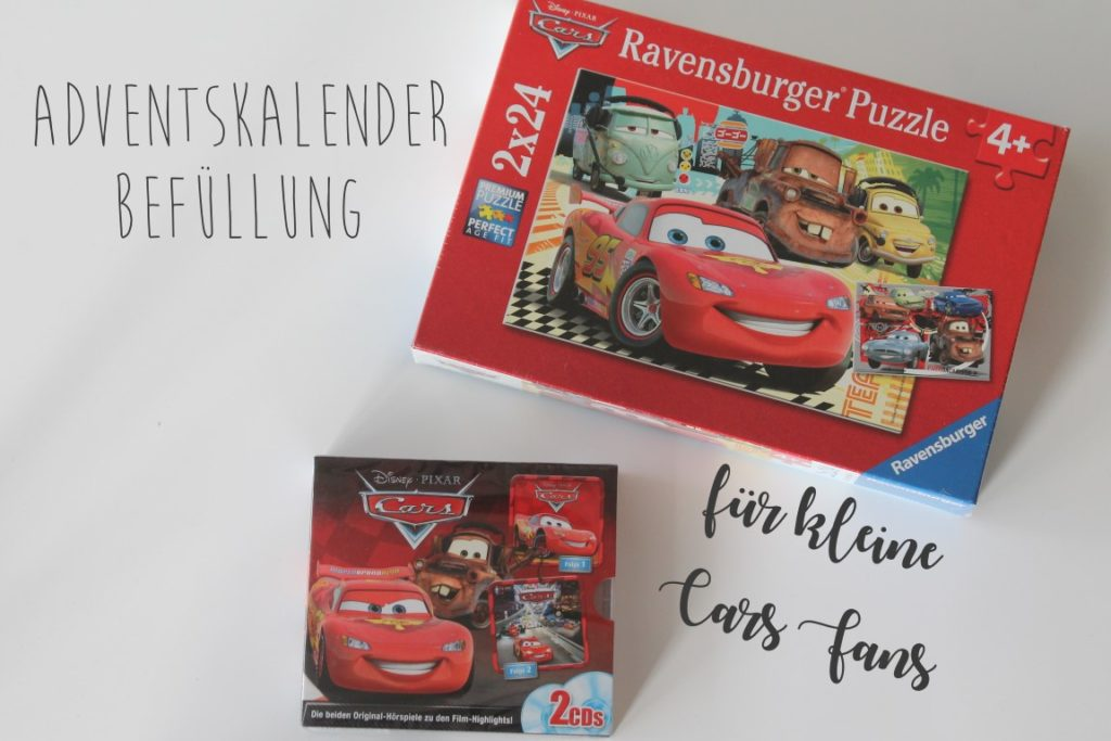 Adventskalender Ideen Befuellung fuer Kinder Cars 3 Jules kleines Freudenhaus