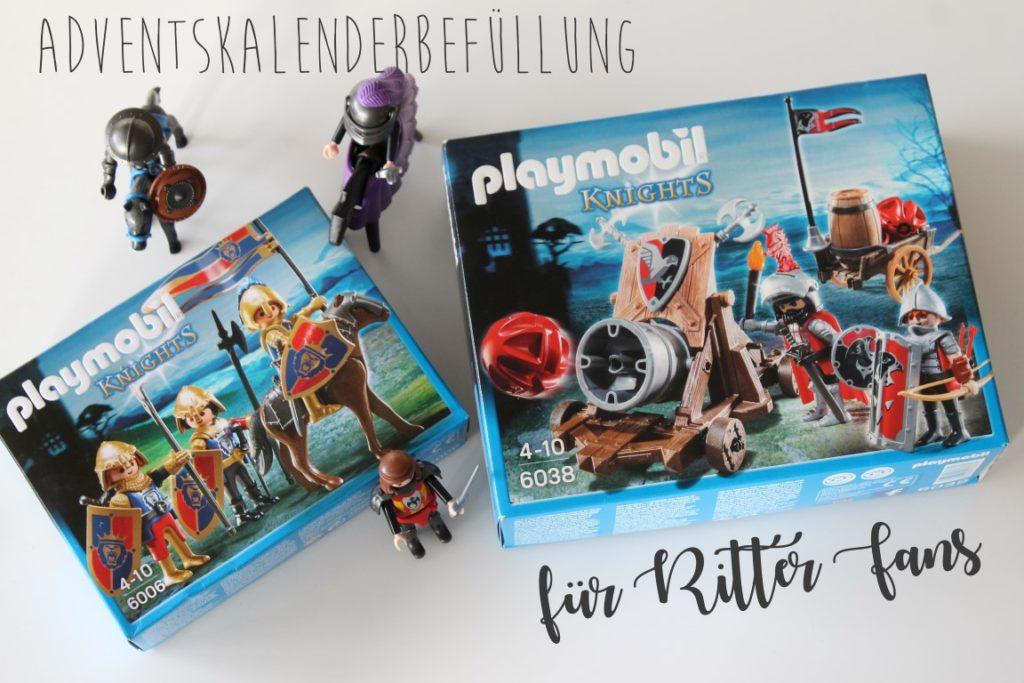 Adventskalender Ideen Befuellung fuer Kinder Ritter Playmobil Jules kleines Freudenhaus