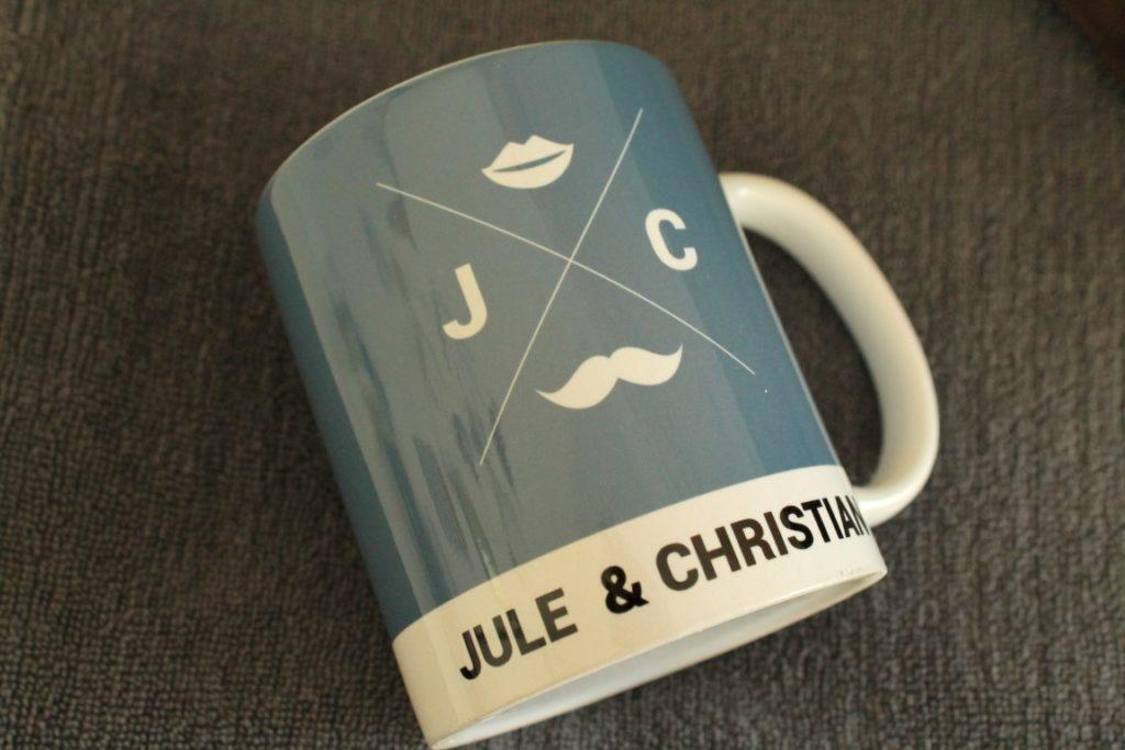 Personailiserte Tasse unromantische Geschenke zum Valentinstag Jules kleines Freudenhaus