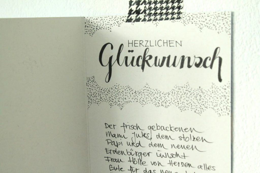 Karte Frau Hoelle Kinderzimmer Handlettering