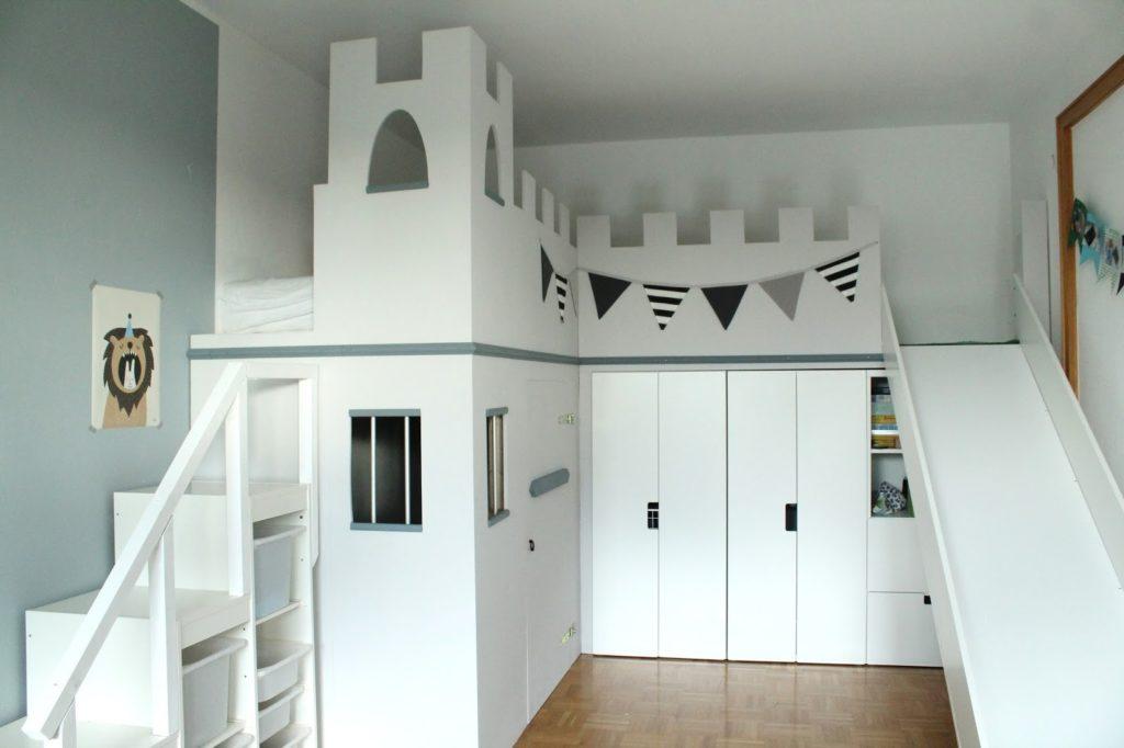 IKEA Hack Hochbett selberbauen Ritterburg Ritterbett Jules kleines Freudenhaus