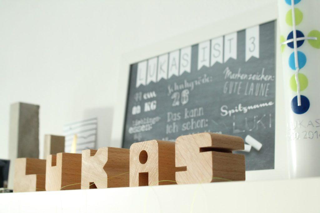 Kinderzimmer Makeover IKEA Hack Buchstaben Deko Jules kleines Freudenhaus