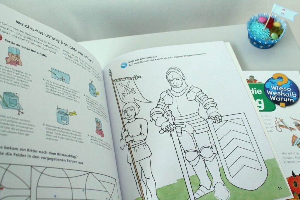 Aktivheft Ritter Kinderbuch Tipps Ritterbuecher Ravensburger Jules kleines Freudenhaus